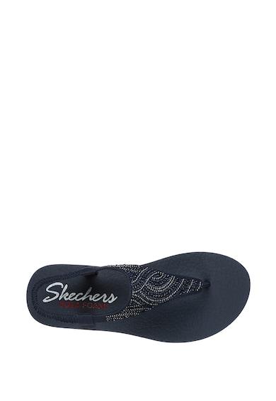 Skechers Sandale cu bareta separatoare si aplicatii cu strasuri Meditation-New Moon Femei