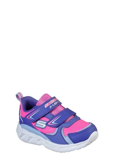 Skechers Pantofi sport cu inchidere velcro S Lights Magna Fete