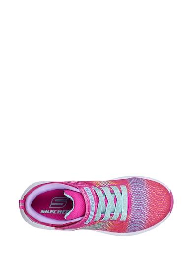 Skechers Pantofi sport cu sireturi elastice si inchidere velcro Trainer Lite 2.0 Fete