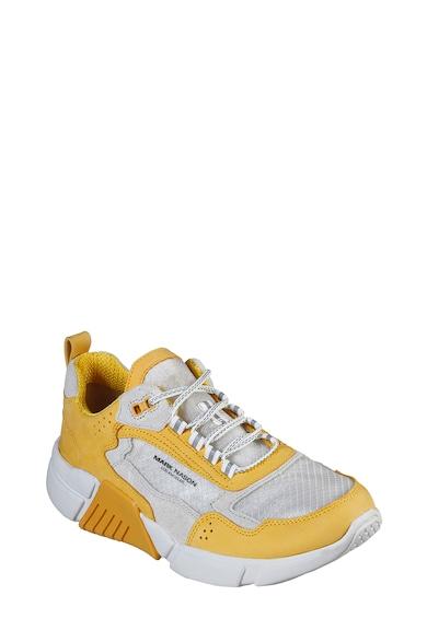 Skechers Pantofi sport de piele intoarsa si piele nabuc Block West Femei