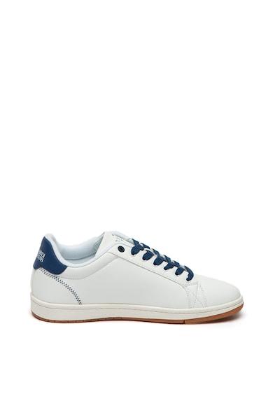 Trussardi Jeans Pantofi sport din piele ecologica cu model logo stantat Barbati
