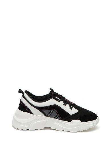Trussardi Jeans Pantofi sport cu aspect masiv si insertii din piele Barbati
