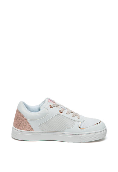 Trussardi Jeans Pantofi sport din piele cu insertii stralucitoare Femei