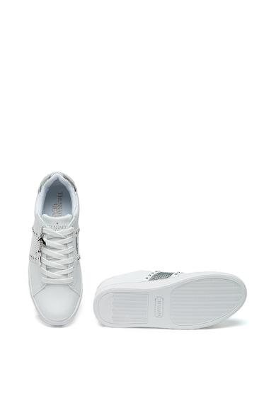 Trussardi Jeans Pantofi sport cu aplicatii de nituri si paiete Femei