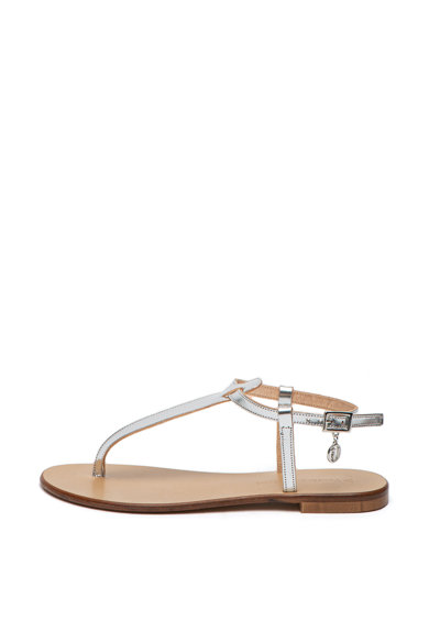 Trussardi Jeans Sandale cu aspect metalic Femei