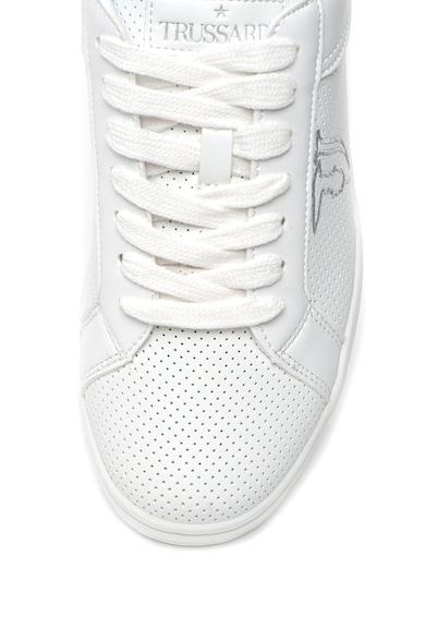 Trussardi Jeans Pantofi sport de piele ecologica, cu perforatii Femei