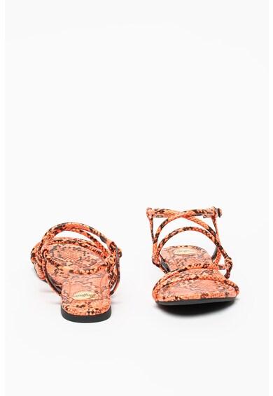 Buffalo Sandale de piele ecologica, cu model piele de sarpe Femei