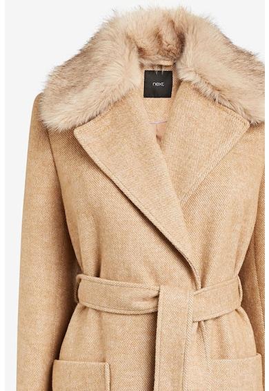 NEXT Palton din amestec de lana cu guler detasabil din blana sintetica Femei