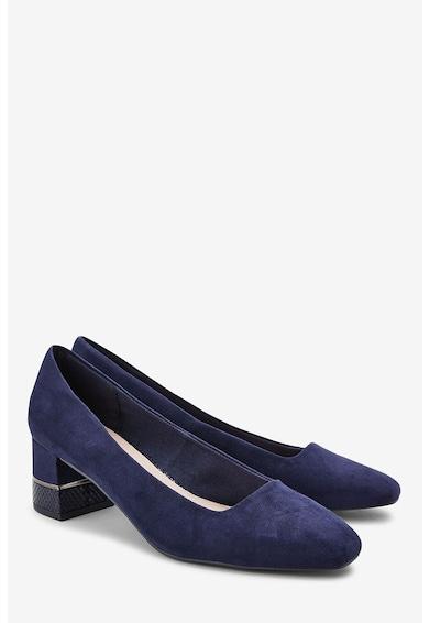 NEXT Pantofi de piele intoarsa ecologica, cu toc masiv Femei