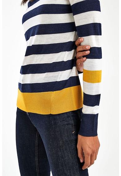 NEXT Pulover de lana Merinos cu imprimeu in dungi Femei