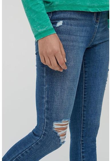 NEXT Blugi skinny cu talie inalta si rupturi decorative la nivelul genunchilor Femei