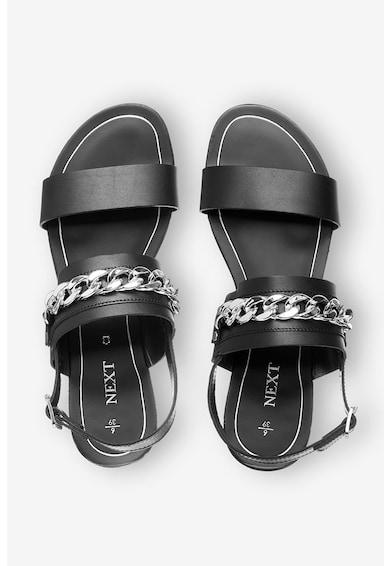 NEXT Sandale de piele cu insertii din lant Femei