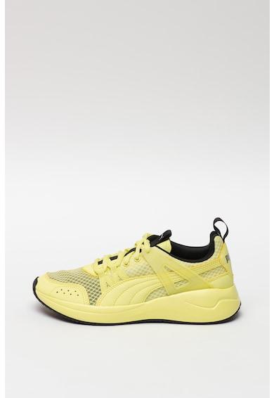 Puma Pantofi sport cu insertii din piele ecologica Nuage Run Cage Summer Femei