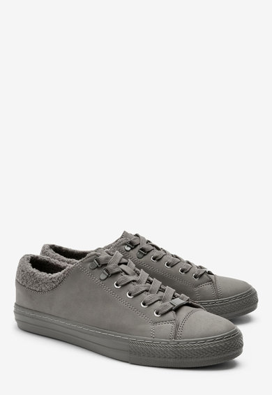 NEXT Pantofi sport de piele ecologica, cu captuseala din material teddy Femei