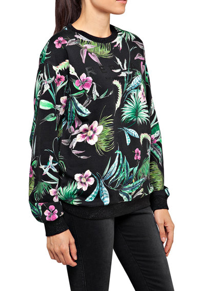 Replay Bluza sport cu model tropical Femei
