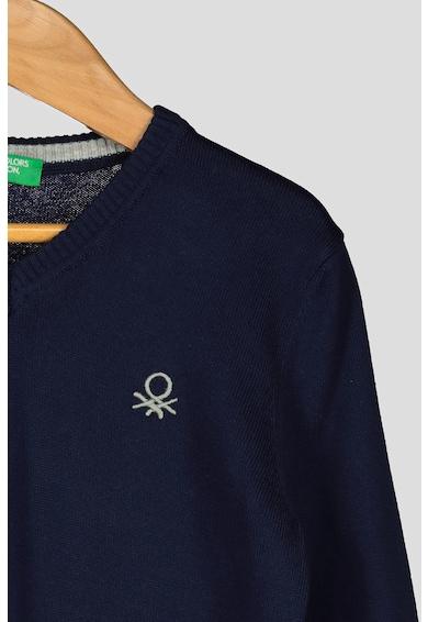 United Colors of Benetton Pulover tricotat fin, cu decolteu in V Baieti