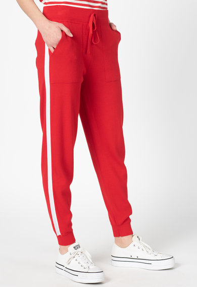United Colors of Benetton Pantaloni din tricot si amestec de modal Femei