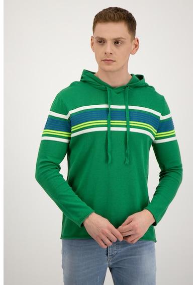 United Colors of Benetton Pulover cu dungi si gluga Barbati