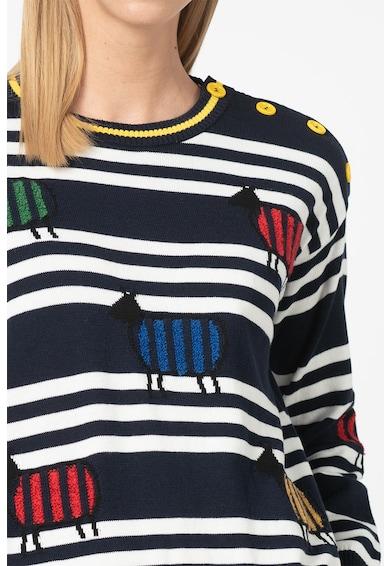 United Colors of Benetton Pulover tricotat fin cu insertii de boucle Femei