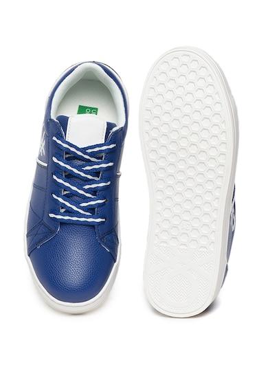 United Colors of Benetton Pantofi sport de piele ecologica cu detaliu logo Baieti