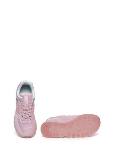 New Balance Pantofi sport de piele intoarsa cu garnituri de satin 574 Femei