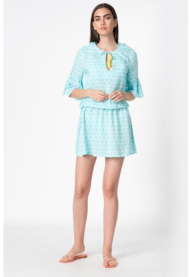 ESPRIT Bodywear Rochie de plaja cu buline si talie elastica Femei