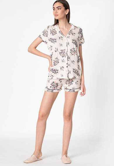 ESPRIT Bodywear Pijama cu imprimeu floral Femei