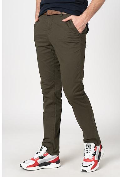 Tom Tailor Pantaloni chino slim fit cu o curea Barbati