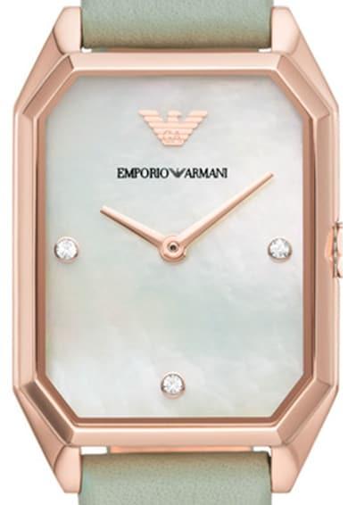 Emporio Armani Ceas quartz cu cadran Mother of Pearl Femei