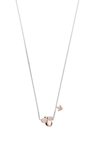 Emporio Armani Set de cercei si colier din argint veritabil, cu cristale Femei