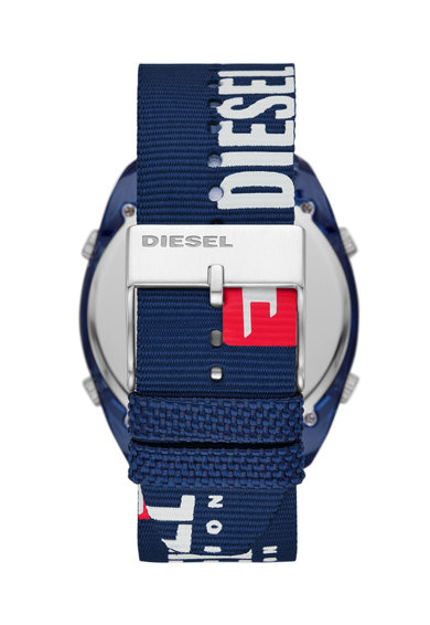Diesel Ceas digital cu functii multiple si curea din material textil Barbati