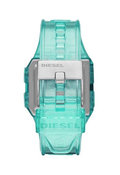 Diesel Ceas digital cu functii multiple si curea din silicon Femei