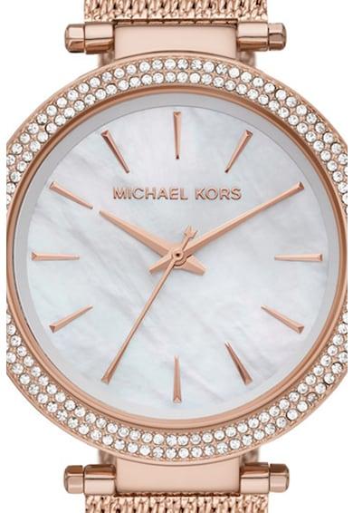Michael Kors Ceas de otel inoxidabil decorat cu cristale Femei