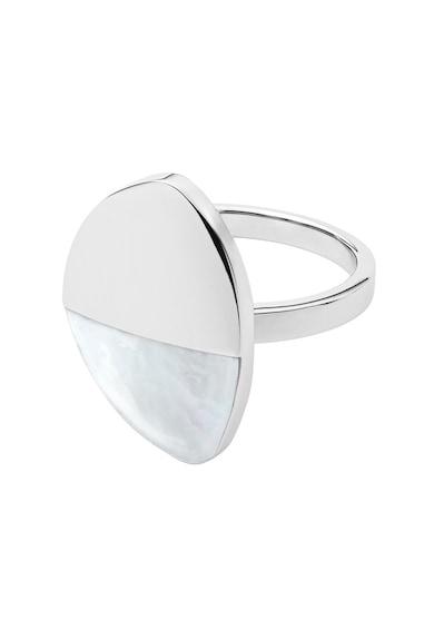 Skagen Gyűrű gyöngyházfényű részletekkel női