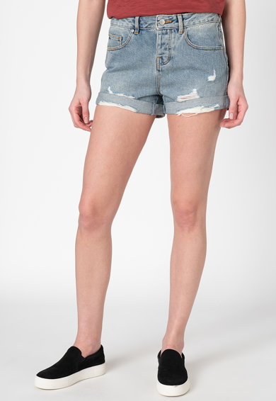 SUPERDRY Pantaloni scurti de denim cu terminatii rasucite Steph Femei