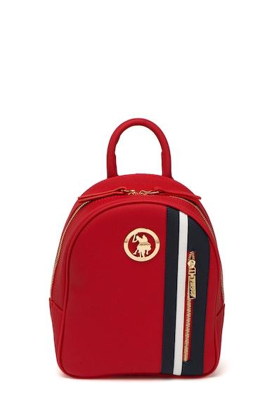 U.S. Polo Assn. Раница от еко кожа Сафиано с лого Жени
