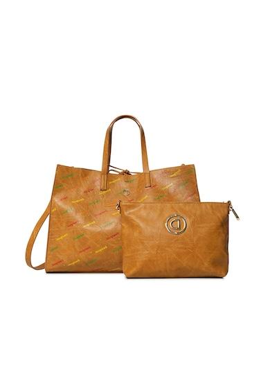 DESIGUAL Geanta shopper de piele ecologica, cu etui detasabil Intra Merlo Femei