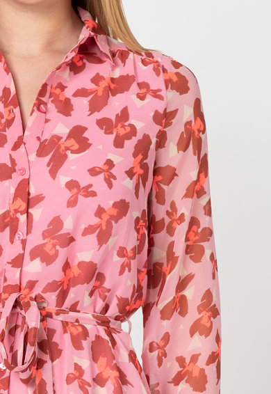 Vero Moda Rochie tip camasa vaporoasa cu imprimeu floral Iris Femei