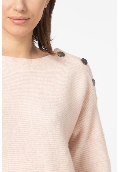 Esprit Pulover din amestec de lana, cu nasturi decorativi Femei