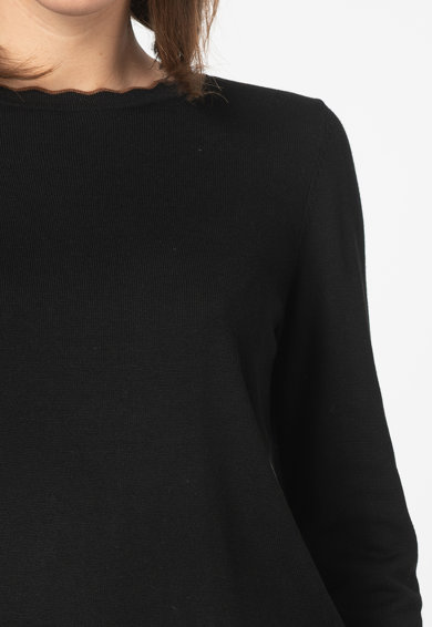 Esprit Фино плетен пуловер с вълнообразни краища Жени