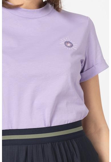 EDC by Esprit Tricou din bumbac organic, cu detaliu brodat pe piept Femei