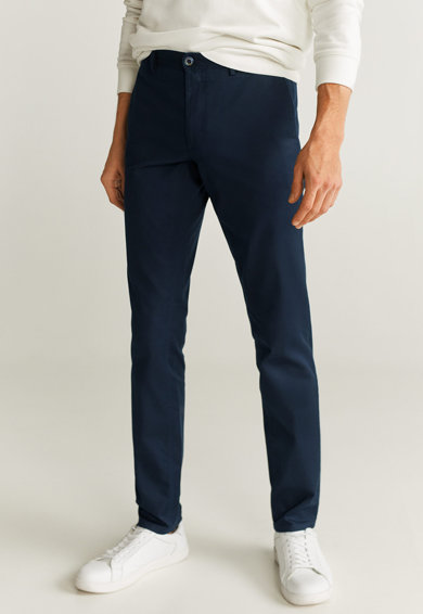 Mango Pantaloni chino slim fit Borne Barbati