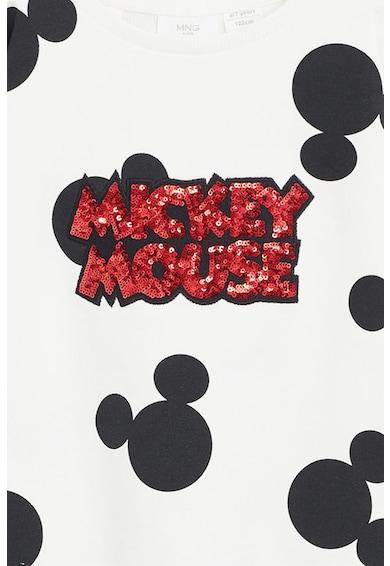 Mango Bluza sport cu imprimeu Mickey Mouse si aplicatii de paiete Fete