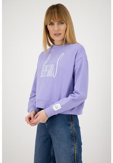 Pepe Jeans London Dua Lipa Grace feliratos pulóver női