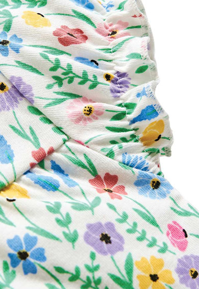 JoJo Maman Bebe Pijama cu model floral Fete