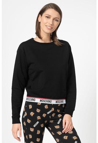 Moschino Bluza de pijama cu terminatie elastica cu logo Femei