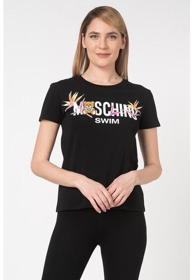Moschino Tricou de plaja cu imprimeu logo Femei