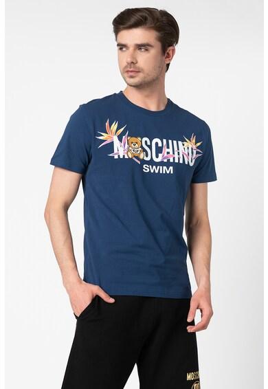 Moschino Tricou de plaja cu imprimeu logo Barbati