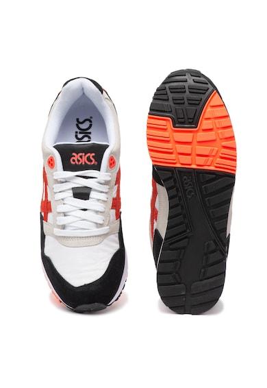 Asics Pantofi sport unisex de piele si piele intoarsa, cu model colorblock Gelsaga Femei