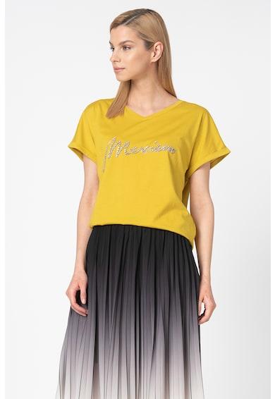 GUESS BY MARCIANO Тениска с модал и декоративни камъни Жени